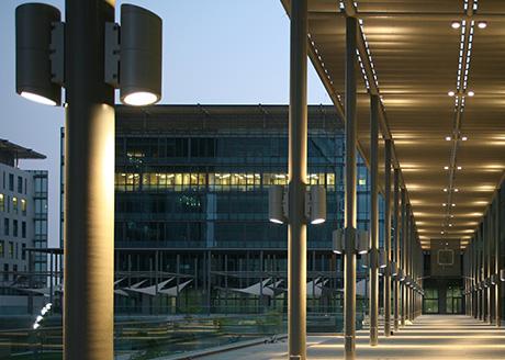 Dubai International Finance Centre. Lighting Consultant: DPA Lighting Consultants and Douglas Brennan: RMJM